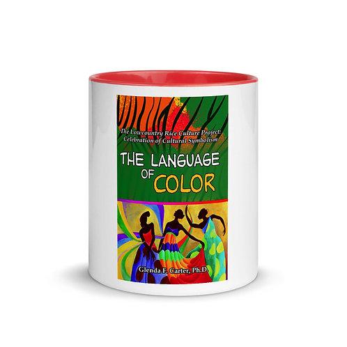 White Ceramic Mug w/ Color Inside: Red
