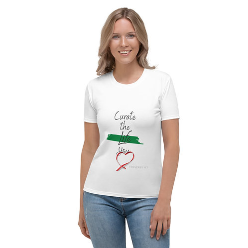 Curate the Life You Love Red Heart Narrow Strip