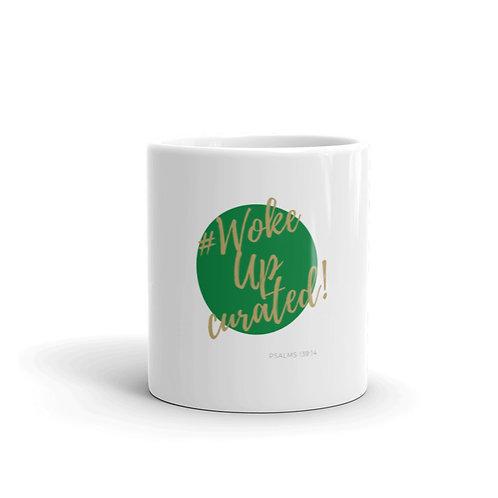 #WokeUpCurated (Green & Gold) Mug