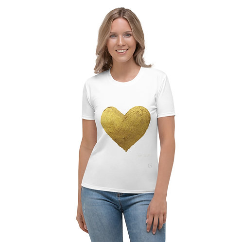 Golden Heart White T-Shirt