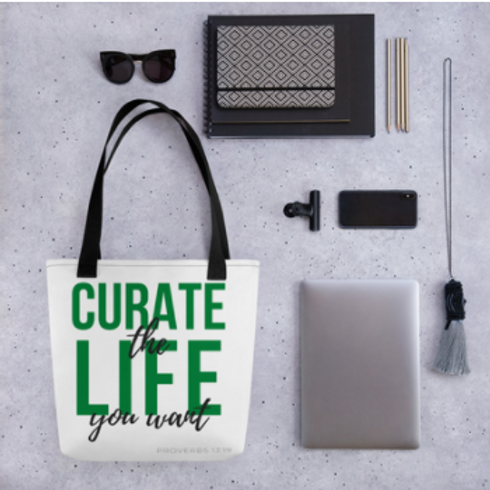 Curate the Life You Want Tote Bag