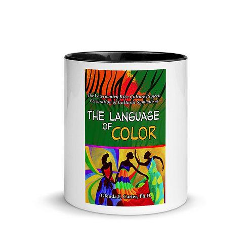 White Ceramic Mug w/ Color Inside: Black