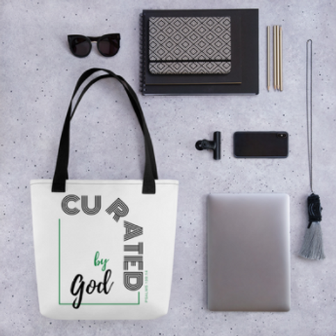 Curated by God Tote Bag