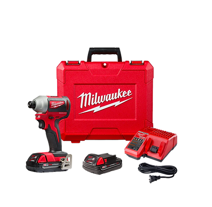 "MILWAUKEE M18 COMPACT BRUSHLESS 1/4"" HEX IMPACT DRIVER KIT"
