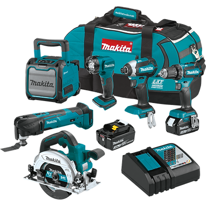 MAKITA 18V LXT 6-PC COMBO KIT
