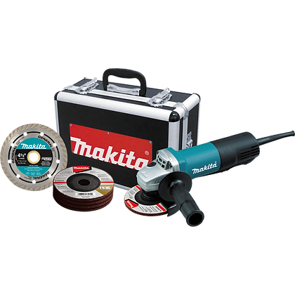 "MAKITA 4-1/2"" PADDLE SWITCH CUT-OFF/ANGLE GRINDER"