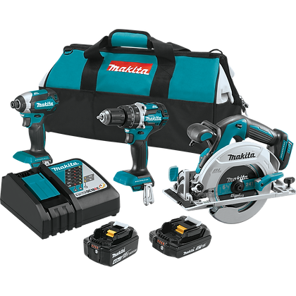 MAKITA BRUSHLESS 3-PC COMBO KIT