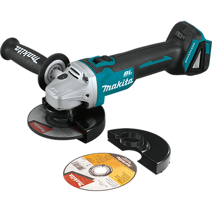 "MAKITA 18V LXT LITHIUM-ION BRUSHLESS 4 1/2""/5"" CUT OFF ANGLE GRINDER"