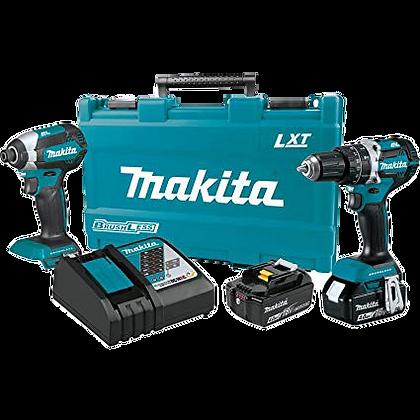 MAKITA 18V LXT LITHIUM-ION BRUSHLESS 2-PC COMBO KIT