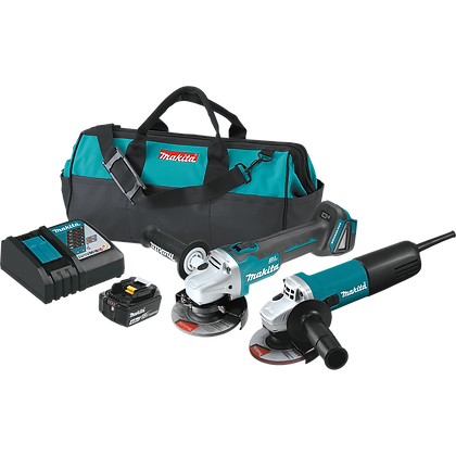 "MAKITA BRUSHLESS CORDLESS 4-1/2"" CUT OFF/ANGLE GRINDER KIT"