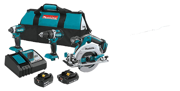 MAKITA 18V LXT LITHIUM-ION BRUSHLESS 3-PC COMBO KIT