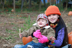 Children Pumpkin Patch Photos