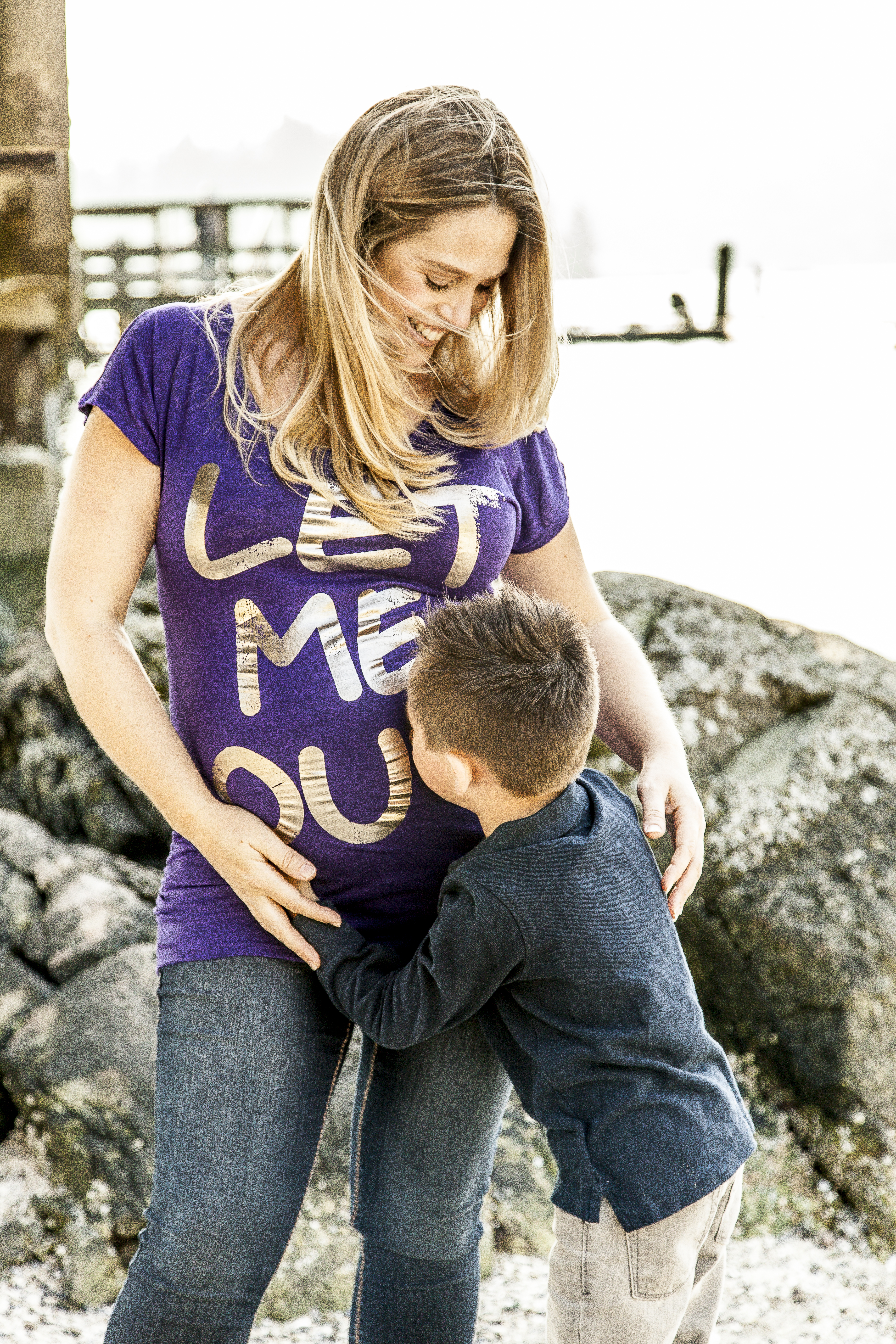 Let Me Out Maternity Photo Shoot