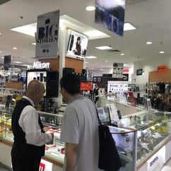 Shibuya visiting BestDenki Singapore