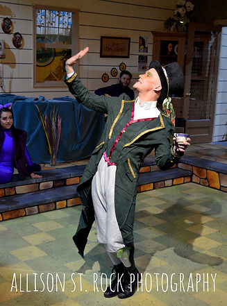 Brian Levario as The Mad Hatter in Good Idea Bears' production of 'Alice in Wonderland'