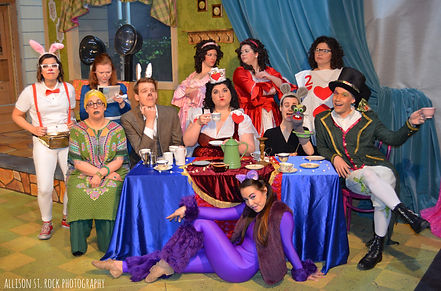 The cast of Good Idea Bears' production of 'Alice in Wonderland'