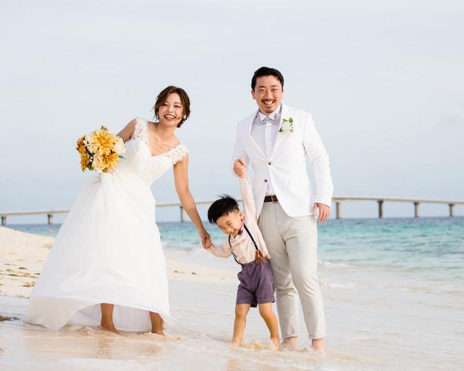家族写真 前浜ビーチ