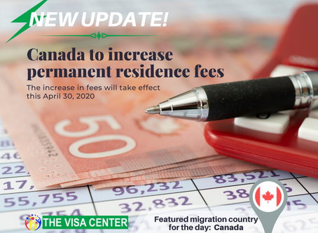 Canada to increase permanent residence fees this April 30