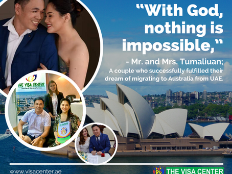 Couple goals: Husband and wife to finally fulfill their dream of living in Australia