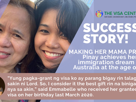 Making her mama proud: Pinay achieves her immigration dream to Australia at the age of 23