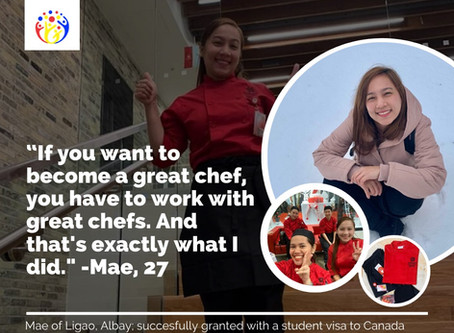 Bicolana's journey to becoming a great chef begins through The Visa Center