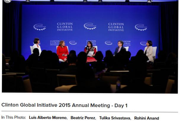 Clinton Global Initiative 2015 carousel.