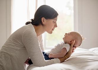 母親持株赤ちゃん