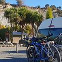 Bike shuttle. Awastone picks up cyclist