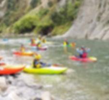 Kayak shuttles around Rangitikei River, North Island New Zealand