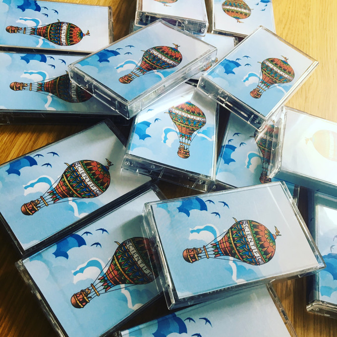 """Get your copy of """"Above The Clouds"""" on cassette tape now!"""