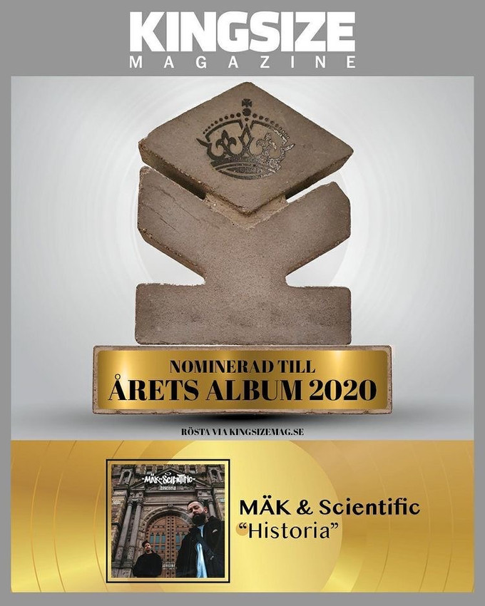 "Kingsize Magazine nominates ""Historia"" for best album of the year 2020!"