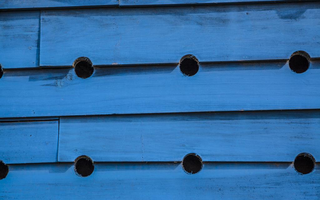 Big Blue Birdhouse