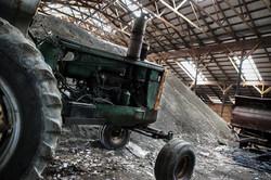 Garaged Tractor