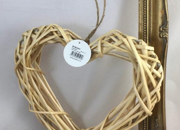 Heart willow wreath 30cm