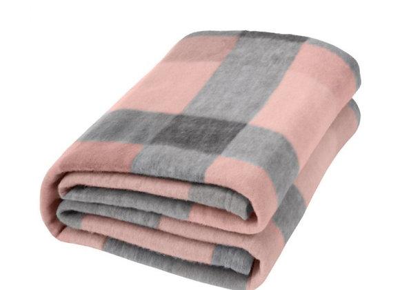 Checked fleece blanket