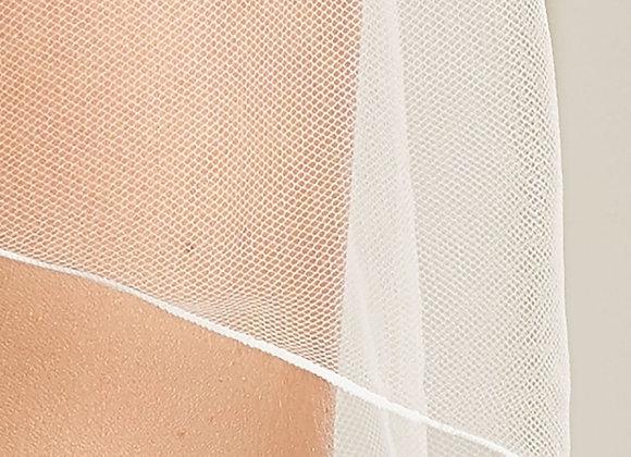 Single tier corded edge veil