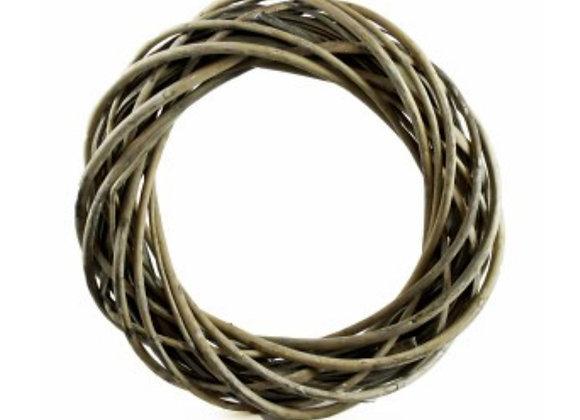 Grey washed wicker wreath base 25cm