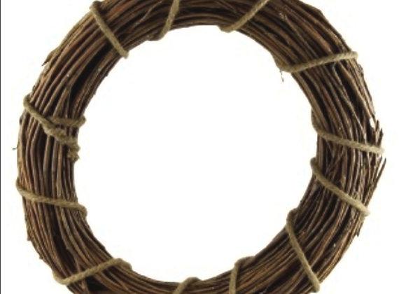 Heavy wicker wreath base 30cm