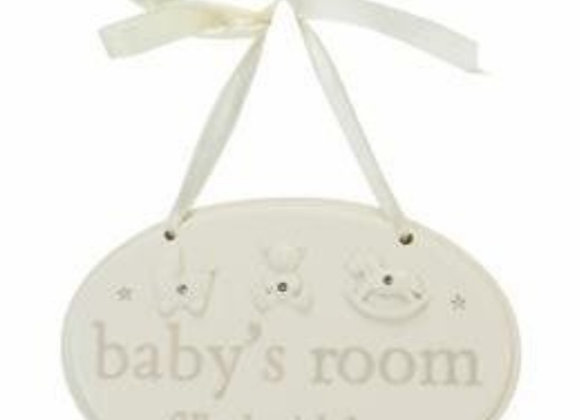 Baby ceramic plaque