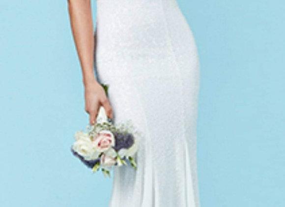 Rihanna full sequined wedding dress