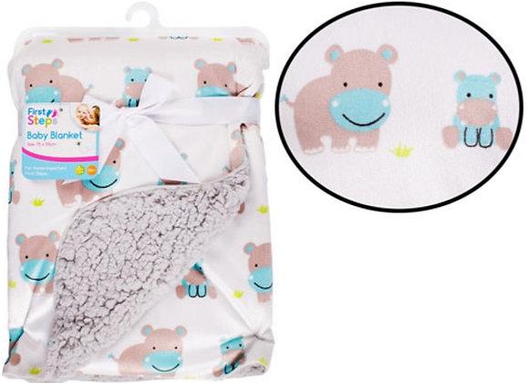 Hippo blanket super soft sharpa