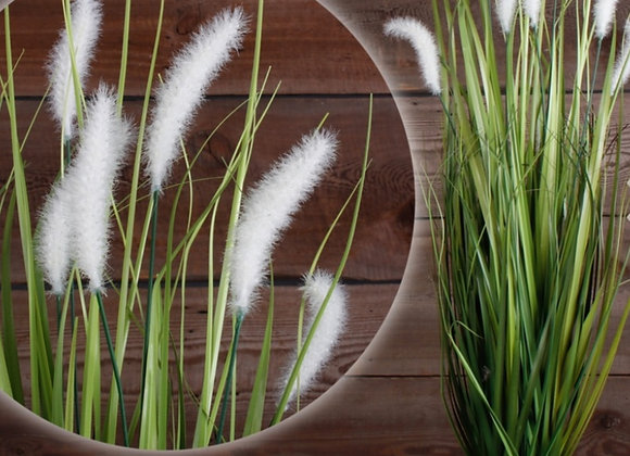 Artificial blooming grass plant