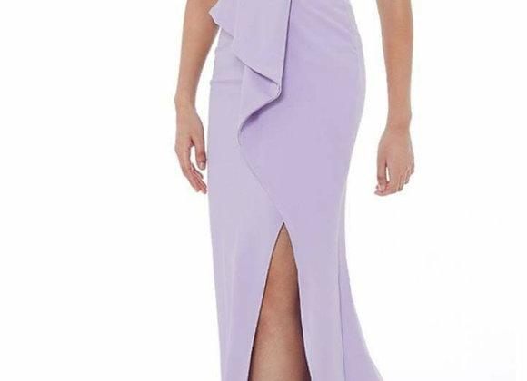 Chantal  lilac peplum dress