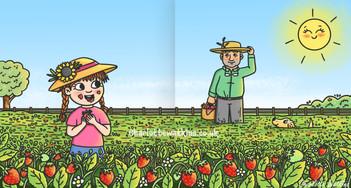 Strawberry Picking With Grandad