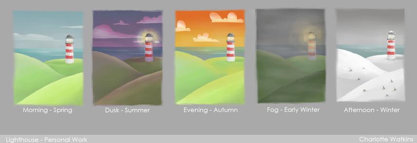 Lighthouse colour test