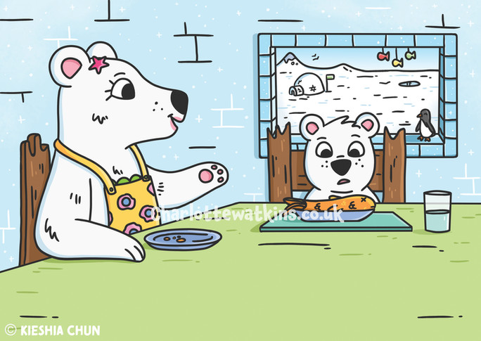 Peter the Picky Polar Bear - Inside Page