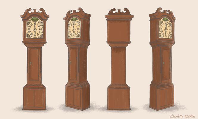 Grandfather clock colour