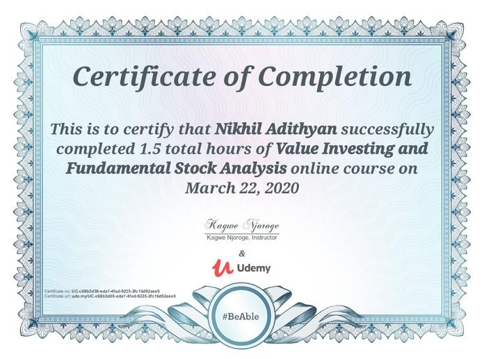 Value Investing & Fundamental Analysis-1