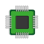 88416143-computer-chip-icon-over-white-b