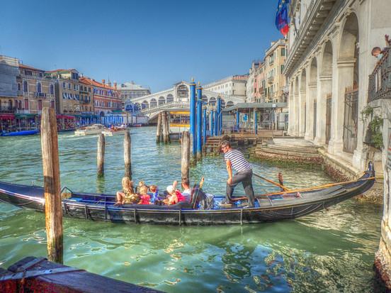 Gondola Near the Rialto